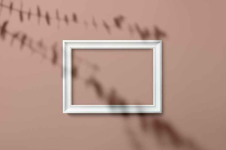 rectangular white wooden frame